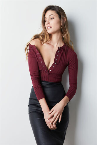 MERISSA BODYSUIT in colour WINETASTING