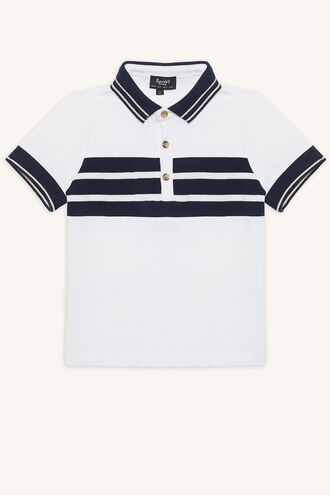 HAMILTON POLO TOP in colour BRIGHT WHITE