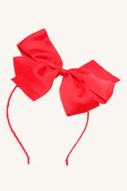 EXTRA LARGE BOW HEADBAND in colour RED BUD