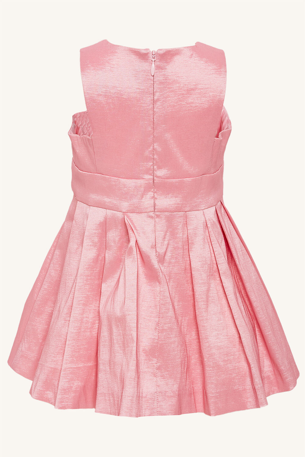 CLARA SHIMMER DRESS in colour PARFAIT PINK
