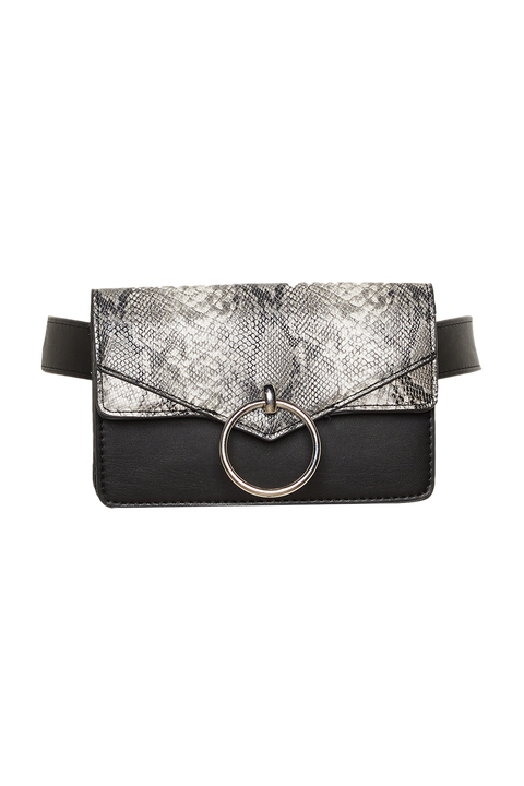 SNAKE BELT BAG in colour ANTELOPE