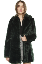 FUR COAT in colour GREEN GABLES