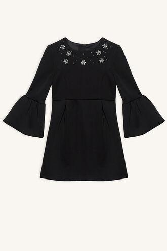 OPHELIA JEWEL DRESS in colour JET BLACK