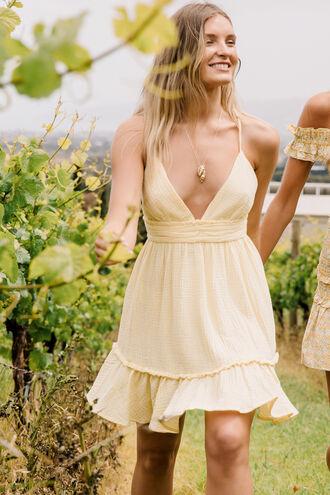 LOTTIE SUMMER DRESS in colour BUTTERCUP