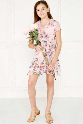 LUELLA WRAP DRESS in colour HEAVENLY PINK