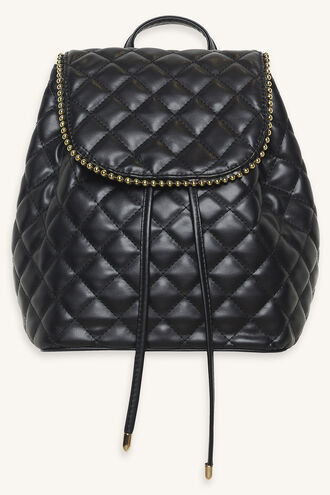 QUILTED STUD MINI BACKPACK in colour METEORITE