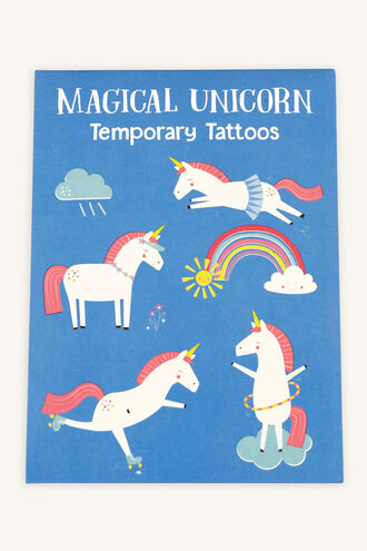 TEMPORARY TATTOOS UNICORN in colour BRIGHT WHITE