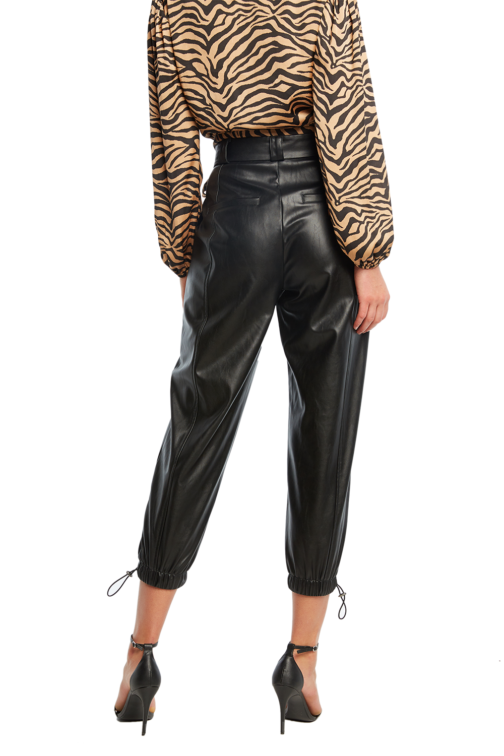 PU RILEY CARGO PANT in colour CAVIAR