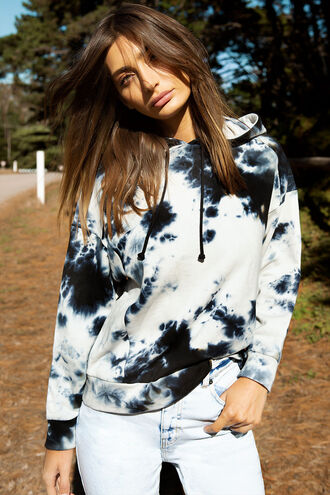 TIE DYE HOODIE in colour INSIGNIA BLUE