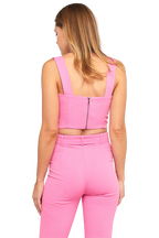 CROP TANK in colour SACHET PINK