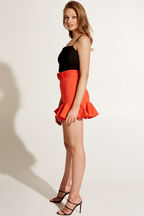 TORTOISE BUCKLE SKIRT in colour SPICY ORANGE