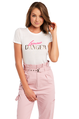 GIMME DANGER TEE in colour BRIGHT WHITE