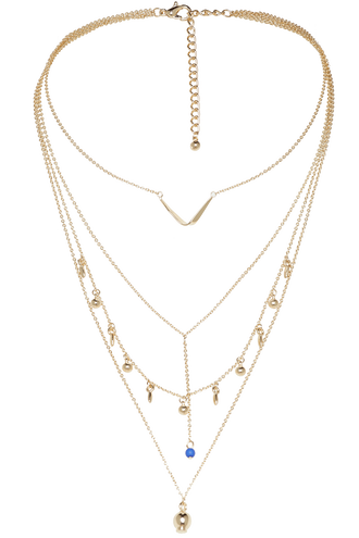 SUPREME DROP NECKLACE in colour GOLD EARTH