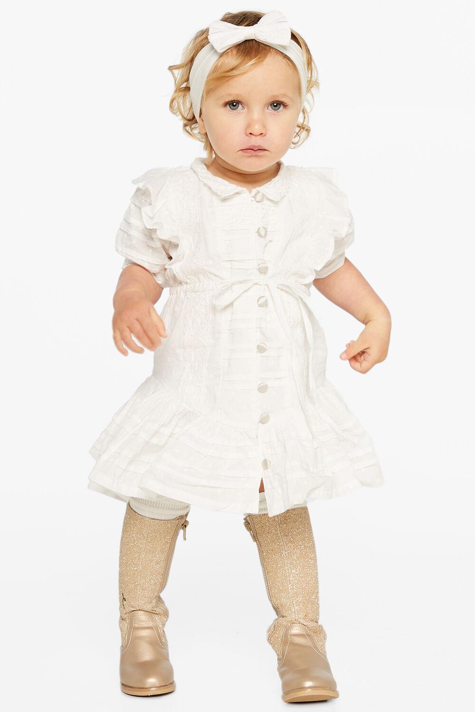 LUCY TRIM DRESS in colour CLOUD DANCER
