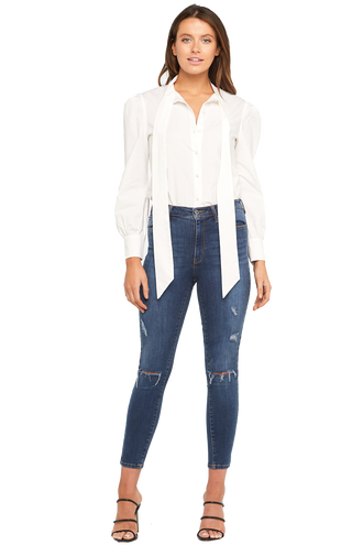 KHLOE CROP JEAN in colour CITADEL