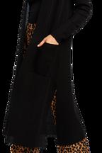AUDRE CARDIGAN in colour CAVIAR