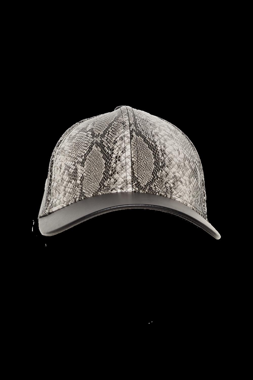 SNAKE PRINT CAP in colour ANTELOPE