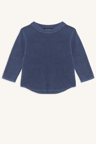 WASHED SWEATSHIRT in colour INSIGNIA BLUE