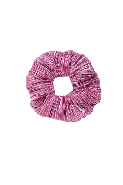 PLEATED SCRUNCHIE in colour PARADISE PINK