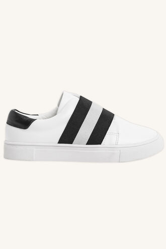 STRETCH STRIPE SNEAKER in colour METEORITE