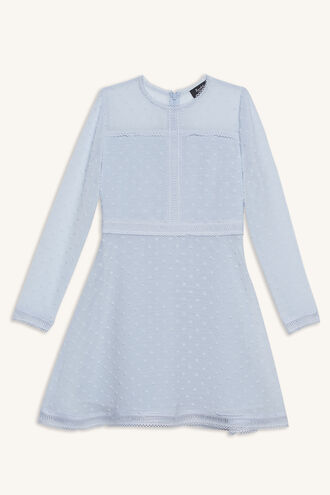 PEYTON DOBBY DRESS in colour PEARL BLUE