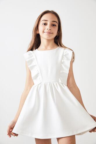 MAVIS PONTE DRESS  in colour CLOUD DANCER