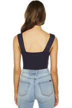 MIMI CROP TOP in colour MARITIME BLUE