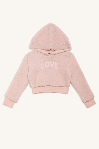 LOVE FLUFFY SWEAT in colour PRIMROSE PINK