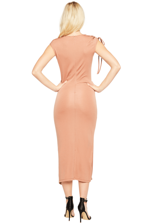 LILY DRESS in colour ALMOND