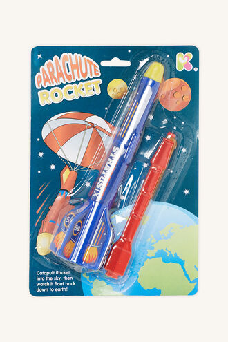 CATAPULT PARACHUTE ROCKET in colour BRIGHT WHITE