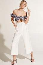NATALIA CULOTTE PANT in colour CLOUD DANCER