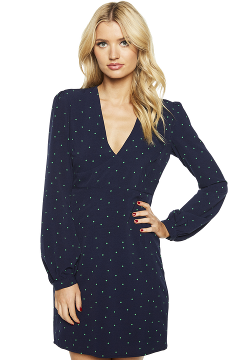 SPOTTY DRESS in colour PATRIOT BLUE
