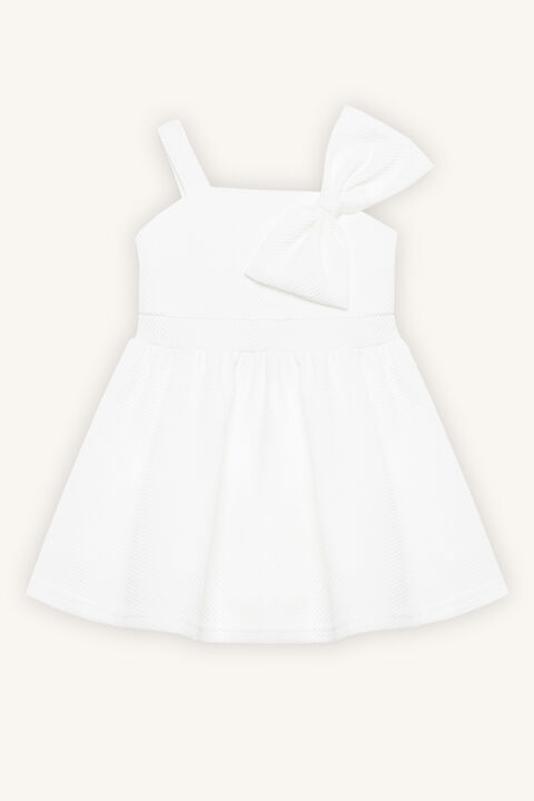 BOW DRESS in colour BRIGHT WHITE