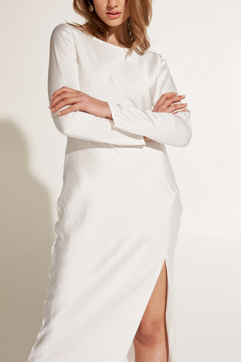 RIVER BIAS DRESS in colour BRIGHT WHITE