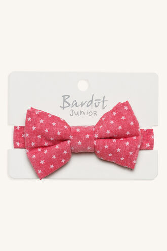 STAR PRINT BOW TIE in colour RED BUD
