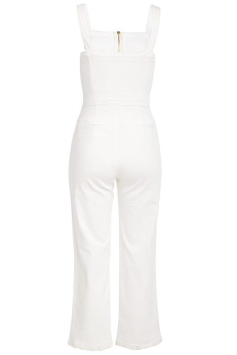 LOLA JUMPSUIT in colour CLOUD DANCER
