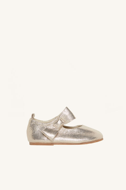 GOLD BOW MARY JANE FLAT in colour GOLD EARTH