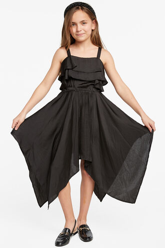 ADDY HANKY DRESS in colour JET BLACK