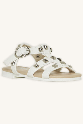 TODDLER MILLY STUDDED SANDAL in colour WHITE ALYSSUM