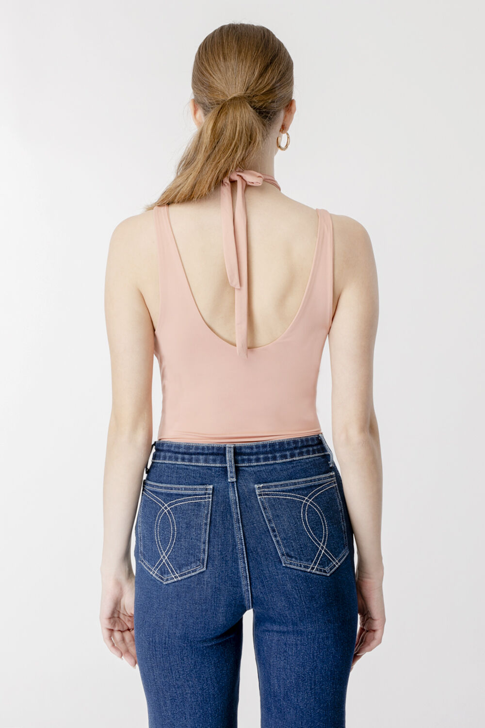 DUA CUT OUT BODYSUIT in colour TUSCANY
