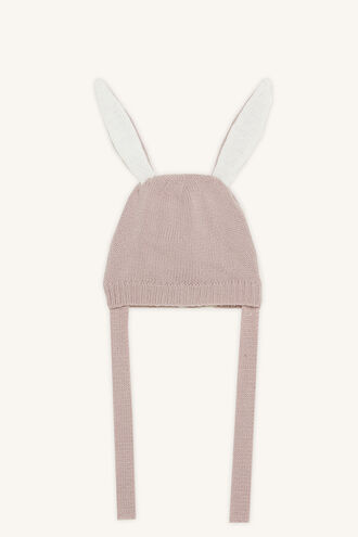 BUNNY BABY BEANIE in colour DUSTY PINK