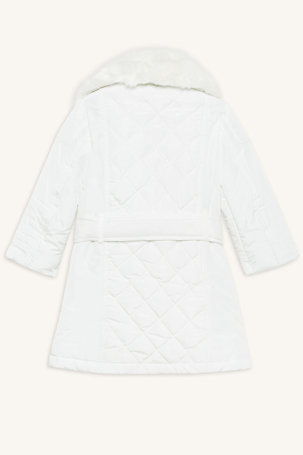 AIMEE QUILTED COAT in colour BRIGHT WHITE