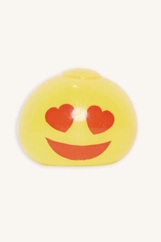EMOJI SPLATTER BALL in colour YELLOW CREAM