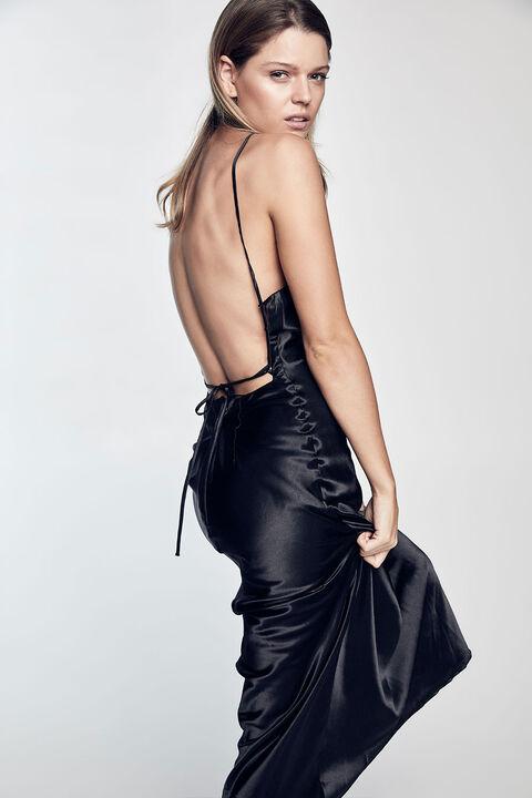 Estelle Drape Dress in Black