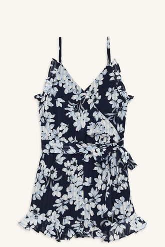 CALLA FRILL PLAYSUIT in colour PATRIOT BLUE