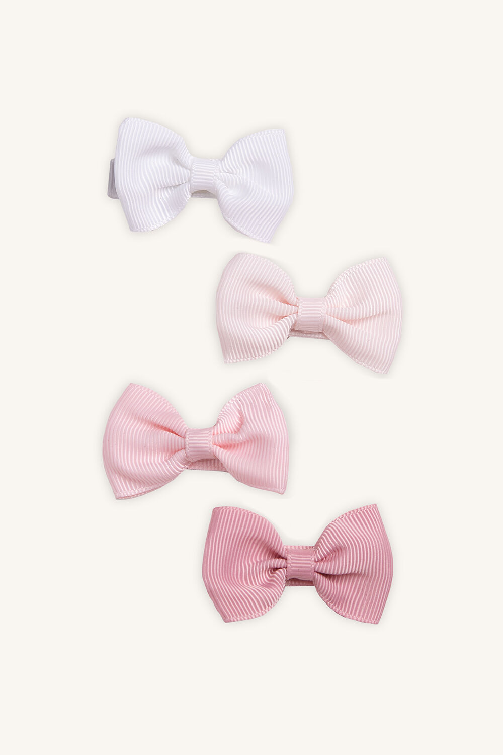 MINI GROSGRAIN BOW 4 PACK in colour PINK CARNATION