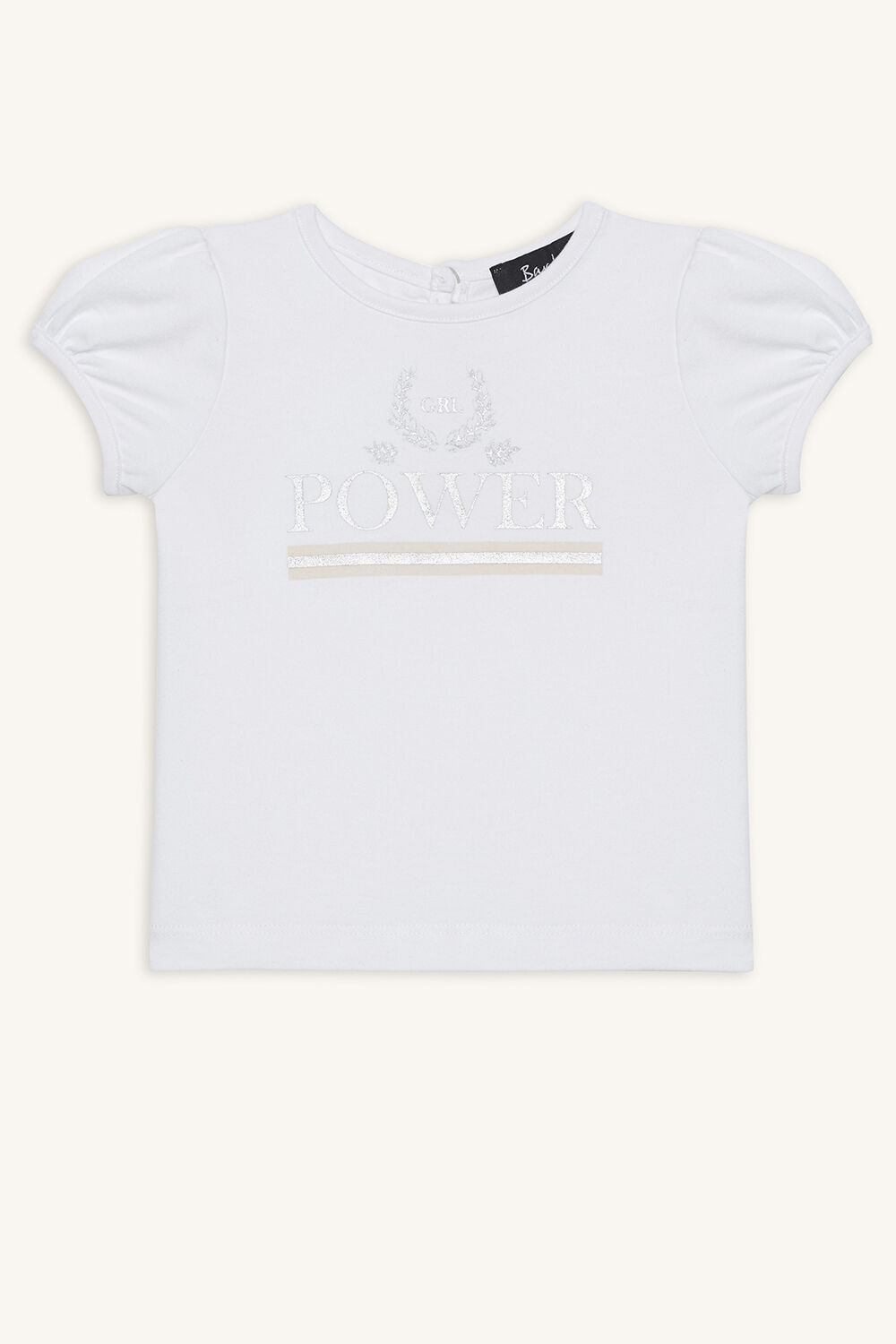 GIRL POWER TEE in colour BRIGHT WHITE