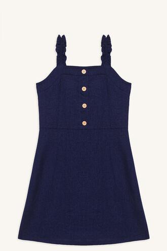 MORGAN BUTTON DRESS in colour PATRIOT BLUE