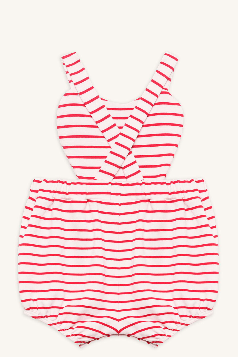 STRIPE HEART GROW in colour CRANBERRY