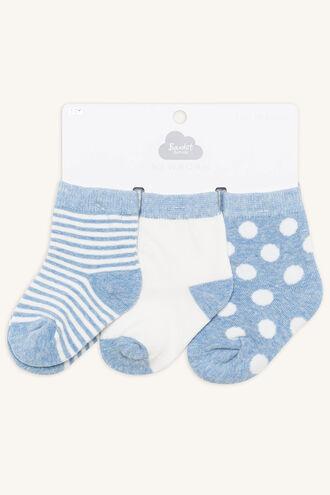 BABY BOYS SPOT & STRIPE 3PK in colour BLUE BELL